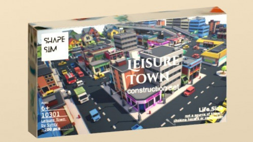 Leisure Town Construction Set by ShapeSim