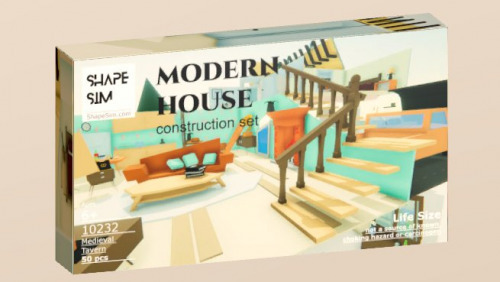 ShapeSim: Modern House construction set