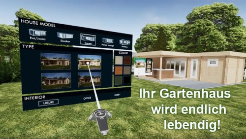 Virtual reality gartenhäuser
