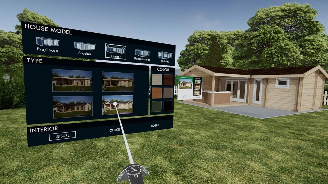 Virtual reality gartenhäuser