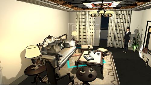 Model room decration VR