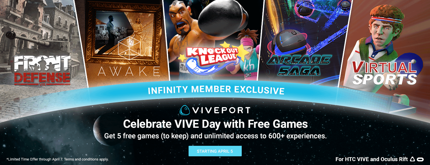 VIVEPORT] VIVE Day Sale (+ infinity 5 free games promo) VR